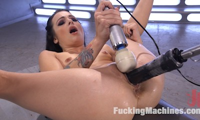 Little Thing Hammered by Big Black Dildos